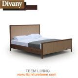 方法ヨーロッパの革ベッド白いカラーホームデザイン家具のダブル・ベッド