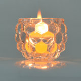 Cup Shape Crystal Glass Candle Holder for Decoration