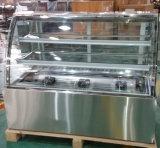 구부려진 유리 (KI760A-S2)를 가진 빵집 케이크 생과자 냉장고
