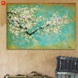 Imagen de la pared del tiempo de primavera Flores de ciruelo pintura al óleo