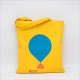 Promotion de toile de coton à 100 % couleur Shopping sac fourre-tout avec logo personnalisé de l'impression