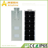 Aleación de 20 W Alumilum todo en una calle la luz solar LED integrado con el sensor (5W-120W)