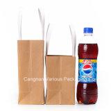 Bolso de compras reutilizable del papel de Kraft, bolso de empaquetado