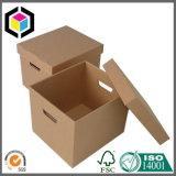 Black Logo Print Corrugated Cardboard Storage Box Un Standard