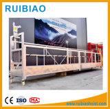 Plate-forme suspendue par nettoyage fonctionnante de chargement d'aluminium Elevated de conteneur