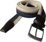 Cordão de homem trançado de couro e algodão de alta qualidade (RS-131256B)