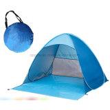 خارجيّة حارّ خداع يفرقع يخيّم فوق شاطئ خيمة