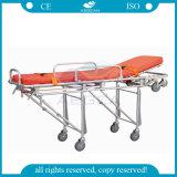 Carregamento de alumínio de alta resistência ambulância maca