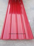Трапецеидальная цветной лист Крыши с покрытием / Лист оцинкованной стали с полимерным покрытием