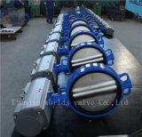 Duktiles Eisen-Oblate-Drosselventil mit pneumatischem Stellzylinder (D671X-10/16)