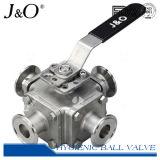Válvula de esfera de solda de tubo sanitário de quatro válvulas Encapsulated Seal