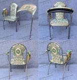 Оптовый Stackable штабелируя стул церков металла утюга голубой ткани стальной для аудитории и молитва с Kneeler (YC-G38)