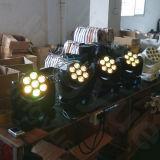 7X12W DMX 광속 단계 빛 LED 소형 이동하는 헤드