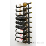 Wine Cellar Series Storage Display Rack de vinil de parede montado em metal
