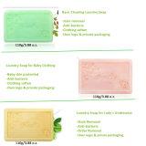 Savon de blanchisserie fondamental protégé par main de savon de toilette de nettoyage d'OEM/ODM pour le vêtement de bébé et les sous-vêtements de dames