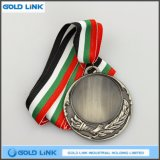 Il ricordo su ordinazione antico delle medaglie del metallo della medaglia d'argento della pressofusione