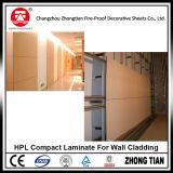 Laminado del compacto de HPL para el revestimiento de la pared