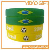 Wristband su ordinazione del silicone di marchio con lo sport Bracelt di gomma per i regali (YB-HD-12)