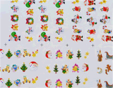 Noël Snowman Santa Water Transfer Nail Art Autocollants Nail Sticker
