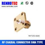 4 support de panneau de soudure de la femelle 12.7mm PTFE de la bride SMA de trou