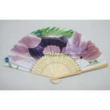 Ventilador de bambú plegable de encargo de la mano de las señoras
