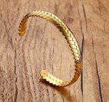 個人化されたステンレス鋼の宝石類のムギの袖口のブレスレット
