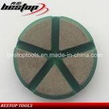 Un tampone a cuscinetti per lucidare di ceramica asciutto da 3 pollici per calcestruzzo