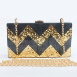Stylish Acrylic Box Clutch Bag Shining Evening Bags for Women Bridal Eb850 Party