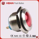 16mm Spst bunter 2 Pin-Terminaldruckknopf-elektronischer Schalter