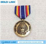 Medaglie su ordinazione dei militari dell'esercito del metallo del medaglione della medaglia del ricordo 3D