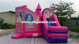 Princesse gonflable rose Bouncy Castle, château sautant de videur