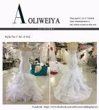 Aoliweiya nagelneues reales Hochzeits-Kleid mit Rüsche-Fußleiste