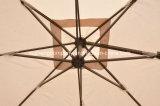 テラス10FTの正方形の屋外の回転ローマの庭の傘、十字ベースが付いているパラソル