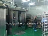 64 bandejas de horno rotativo diesel con carro / rotativo diesel Horno de cocina Horno comercial