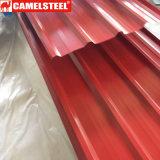 Feuille ondulée en acier galvanisée enduite d'une première couche de peinture pour les salles fraîches
