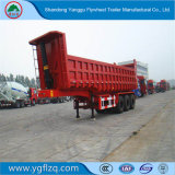 3 Semi Aanhangwagen van de Vrachtwagen van de Kipwagen van de As Fuhua/BPW de Op zwaar werk berekende Achter met Cilinder Hyva voor Vervoer van het Zand/van de Steen/van de Steenkool