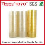 Gelblicher BOPP acrylsauerklebstreifen des Plastikkern-Band-Briefpapier-Band-