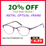 Marcos ópticos de la aleación del metal de las mujeres atractivas (FCM5324)