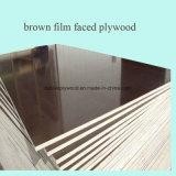 Baumaterial-Film stellte Furnierholz mit Firmenzeichen für Aufbau gegenüber
