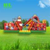 Los niños creativos juguetes inflables Funny Farm Park con Mini formas de animales para los niños para construir su propio parque de atracciones
