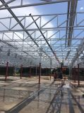 Almacén porta del marco de las estructuras de acero con los fabricantes de la puerta de plegamiento