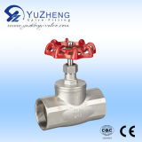 Stainles Steel Thread Gate Valve mit Blue Handle Wheel