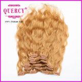 Virgin di alta qualità del rifornimento della fabbrica non trattato tutta la clip di colori nell'estensione dei capelli