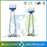Plate-forme de levage en alliage d'aluminium rechargeable légère de 10 m à 12 m
