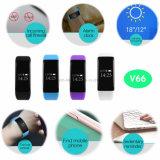 0.66 '' braccialetti astuti oled di Bluetooth con il video V66 di frequenza cardiaca