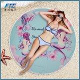 150cm Serviette de plage Tassel Mermaid Blacket ronde Serviette de bain imprimé