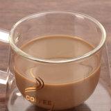 Tazza di caffè di vetro doppia di vetro della tazza di caffè dell'isolamento della tazza del caffè creativo