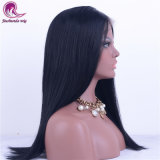 En línea recta el pelo largo para la mujer pleno encaje peluca Venta caliente