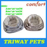 柔らかいフランネルの抱擁犬のベッド(WY161012A/C)