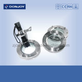 Ss304 Flanged Sight Glass with Stainless Steel Shell Junta de PTFE